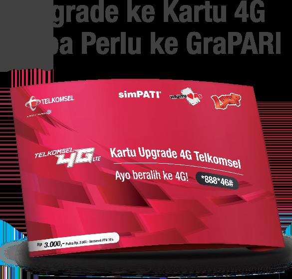 Upgrade Kartu 4G Telkomsel Sekarang Tidak Harus Ke Grapari